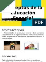 Conceptos de la educación especial