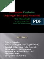 Prof Umar K-3 PDF Manajemen Kesehatan Lingkungan Kerja Pada Fasyankes-1