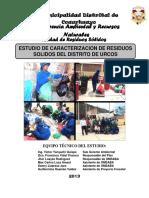 ESTUDIO DE CARACTERIZACIÓN DE RESIDUOS SOLIDOS DEL DISTRITO DE URCOS - 2013.docx