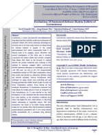 Formulation and Evaluation of Sustained Release Matrix Tablets of Lornoxicam