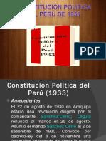 Constitución Política Del Perú de 1933