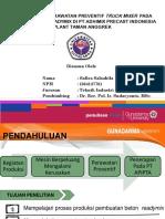 Mempelajari Perawatan Preventif Truck Mixer Pada Produk Beton Readymix Di Pt Adhimix Precast Indonesia Plant Taman Anggrek