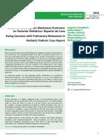Sarcoma de Ewing Con Metstasis Pulmonren Paciente Peditrico Reporte de Caso (1)