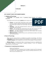 Module 1 Key Points