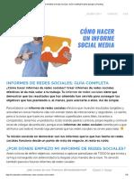 Informe - redes Sociales