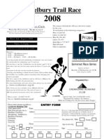 Haselbury Trail Entry Form 2008
