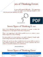 7 Types of Thinking Error