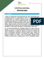 Edital - II Texto Em Cena