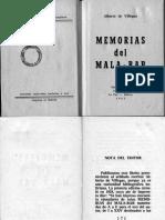 Alberto de Villegas - Memorias del Mala-Bar
