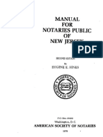 Manual for Notary Public of New Jersey