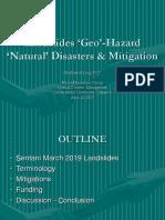 Disaster Mitigation  Sentani 2019 landslide