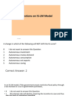 Questions With Answers on is-LM Model