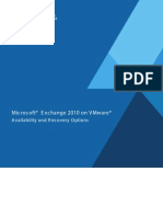 Exchange 2010 on VMware - Availability and Recovery Options
