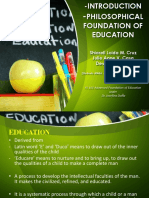 Report FS 101 Advanced Foundation of Education