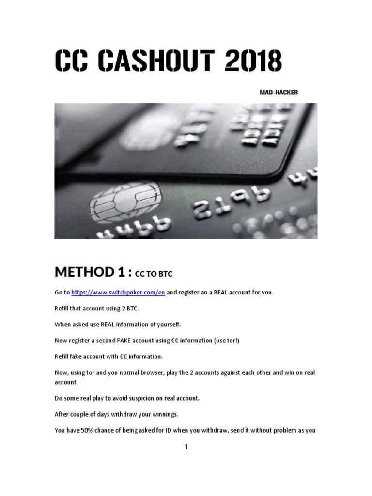 cashout cc to bitcoin