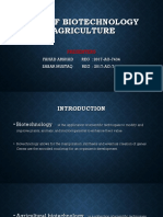 Use of Biotechnology in Agriculture