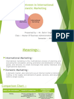 Difference Between in International and Domestic Marketing