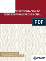 Normas de Presentacion de Tesis e Informe Profesional 2018