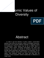 Economic Values of Biodiversity