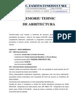 MEMORIU ARHITECTURA