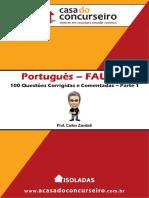 Portugues Parte 1 Faurgs 100 Questoes Comentadas e Corrigidas Carlos Zambeli