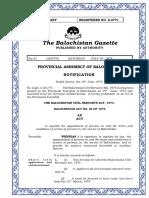 The Balochistan Civil Servants Act 1974