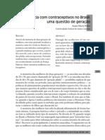A experiência com contraceptivos no Brasil