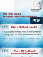 BRC food issue 8 documentation requirements