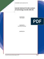 Intern Report (Final) - Financial Ratio Analysis