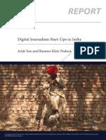 Digital Journalism Start-ups in India