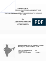 Comparison between MRTP ACT and Goa, Diu and daman country planning act