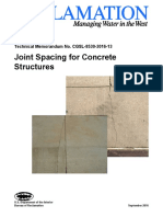 Joint Spacing for Concrete Structures