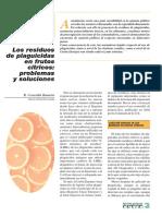 Los Residuos de Plaguicidas en Frutos Cítricos