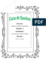 Trabajo 3 quechua