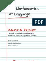 The Mathematics of Language
