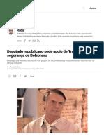 Deputado Republicano Pede Apoio de Trump à Segurança de Bolsonaro _ VEJA.com
