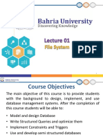 DBMS Lecture 1 File System