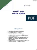 Strateške Opcije - Razvojne Strategije