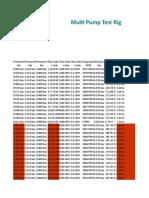 Multi Pump Head vs Flow Rate