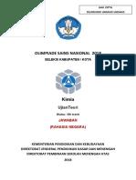Kunci Jawaban OSK Kimia 2018 (1)