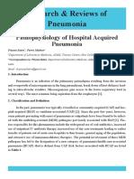 Pathophysiology of Hospital Acquired Pneumonia