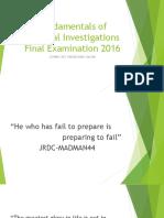 Fundamentals of Criminal Investigations 2016