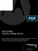 MOTOTRBO DIGITAL PHONE PATCH