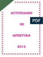 Actividades de Apertura -Marzo
