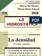 Trabajo de hidrostática  3A