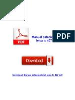 Manual Estacion Total Leica Tc 407 PDF