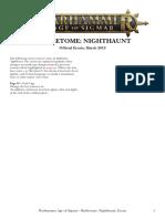 Age of Sigmar Nighthaunt Errata En