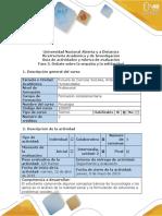 Guía de Actividades y Rúbrica de Evaluación - Fase 5 - Debate Sobre La Empatía y La Solidaridad