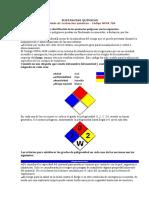 ROTULADO SUSTANCIAS QUÍMICAS NFPA 704