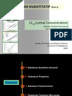 [5] BahanKuliah Ekotoksikologi Lethal Concentration) 2010